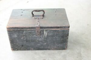 Original Antique Tool Utility Box early Model T Ford Truck Renefek