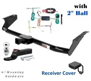 Trailer Hitch Package W 2 Ball Cover For 2015 2020 Toyota Sienna Except Se