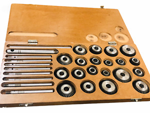 Valve Seat Face Cutter Set Of 20 Pcs For Automotive Industries wooden Box