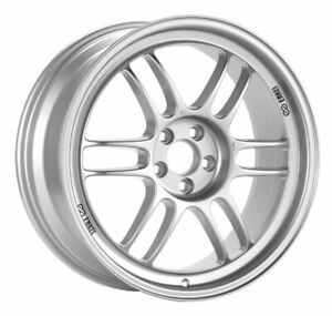 Enkei Rpf1 16x8 4x100 38mm Offset 73mm Bore Silver Wheel Miata 4 lug 02 06