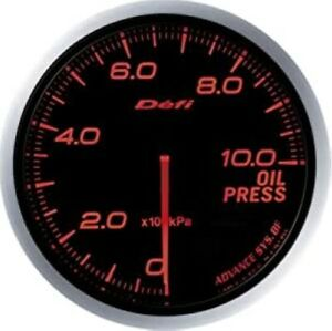 Defi Df10202 Advance Bf 60mm Oil Pressure Gauge metric Red New