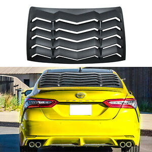 Rear Window Louver Abs Matte Black Windshield Cover For 2018 2020 Toyota Camry