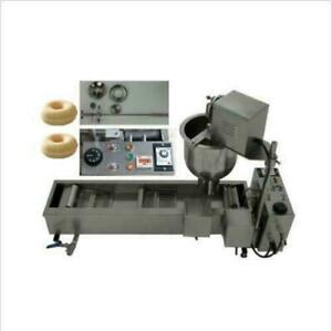 Commercial Automatic Donut Maker Making Machine Wider Oil Tank 3 Sets Mold