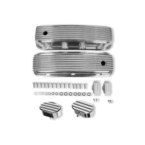 For 1965 95 Bbc 396 454 502 Finned Tall Valve Covers Oval Breather Pcv Valve
