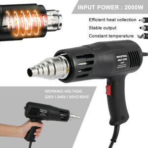 Heat Gun Hot Air Gun Dual Temperature 4 Nozzles Power Tool 2000w Paint Stripper