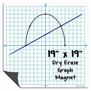 Magnetic Dry Erase Graph X y Coordinate Grid Whiteboard Sheet By Agilepacks 1