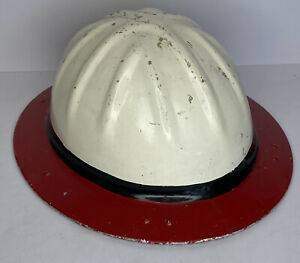 Vintage Original B F Mcdonald Co Aluminum Roughneck Hard Hat Los Angeles Ca