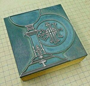 Ihs Holy Chalice Letterpress Printer Block Kelsey Printing Press