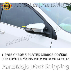 Fit For Toyota Yaris 2012 2013 2014 2015 Chrome Mirror Cover Trims W Turn Signal