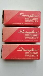 3 Boxes Of Vintage Swingline Standard Staples Usa See Pics For Count