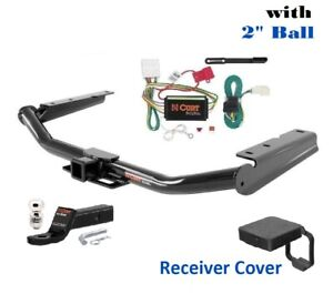Trailer Hitch Tow Package W 2 Ball Cover For 2014 2019 Toyota Highlander