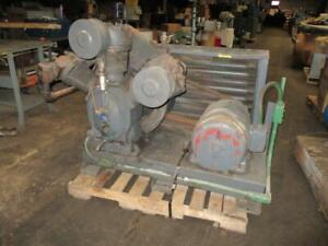 20 Hp Ingersoll Rand Two Stage Skid Mounted Air Compressor 3 Phase Used