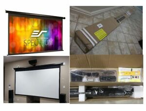 125 16 9 Electric Motorized Drop Down Projector Projection Screen W Ir Remote