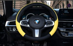 Car Steering Wheel Cover Black Yellow Leather For Odyssey Crosstour Fit Crv 15