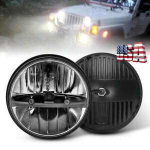 Newest 7inch Round Led Headlight Hi Lo For Jeep Wrangler Jk Lj Tj Chevy C10 C20