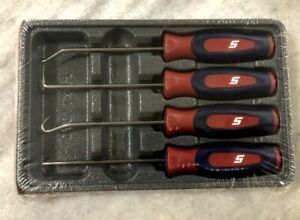 New Snap On Red White Blue 4 Piece Mini Pick Set Sgasa204crwb