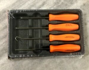 New Snap On Orange 4 Piece Mini Pick Set Asa204bo Hard Handle