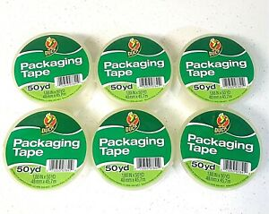 6 Rolls Clear Duck Packaging Tape 1 88 X 50 Yards ea free Expedited Ship