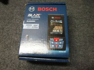 new Bosch Blaze 400 Ft Outdoor Laser Measure Bluetooth And Camera Glm400c