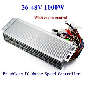 Us 36 48v 1000w E bike Brushless Dc Motor Speed Controller With Cruise Lines
