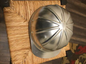Vintage Shiny Aluminum Safety Hard Hat Very Light Adjustable Headband