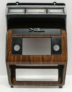 80 86 Ford F150 F250 Bronco Radio Heater Dash Bezel Woodgrain Uncut Read Add