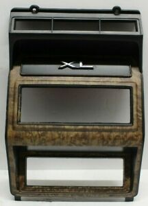 84 89 Ford F150 F250 F350 Bronco Woodgrain Open Radio Heater Dash Bezel Nice