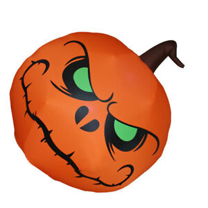 Green Eyes Pumpkin Shaped Inflatable Model Decorative Movable Props Party