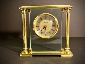 Antique Seth Thomas Quartz Glass Luxury Executive Clock Extremely Rare