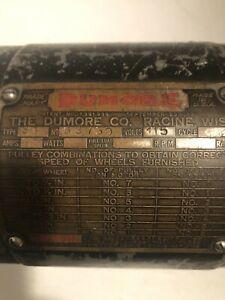 Very Old type 3g Dunmore Electric Motor