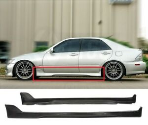 Fit 01 05 Is300 Altezza Sxe10 Tr D Style Pu Side Skirt Pair Left Right