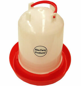 Medium Rite Farm Products Hd 1 6 Gallon Chicken Waterer Handle Poultry Chick