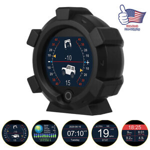 Universal Car Gps 4x4 Inclinometer Compass Speedometer Angle Slope Level Meter