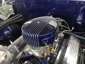 Finned Hot Rod Rat Rod Air Cleaner Gasser Custom Paintable