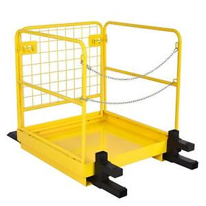 36 x36 Forklift Safety Cage Heavy Duty Steel Collapsible Lift Aerial Basket