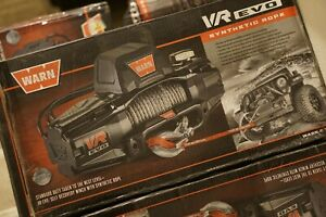 Warn 103253 Vr Evo 10 S Electric 12v Dc Winch With Synthetic Rope 3 8 New