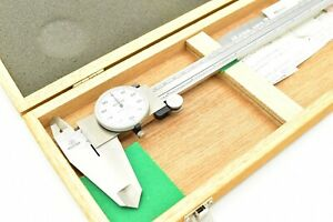 Mitutoyo 505 645 50 12 Shock Proof Dial Caliper 001 Made In Japan Excellent
