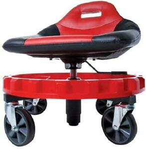 Seat Mechanic Stool Bench Rolling Work Shop Tools Garage Chair Car Auto Seat Red