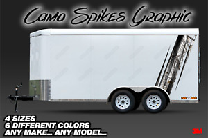 Camo Spikes Trailer Graphics