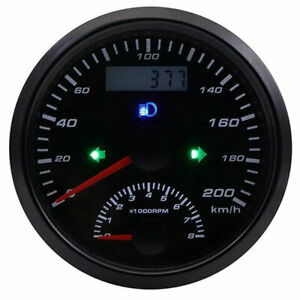 Universal Gps Speedometer 200km h With Tachometer 0 8000rpm For Car Motorcycle