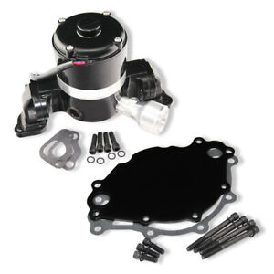 For Ford 289 302 351w Electric Water Pump 35 Gpm High Volume Black Powder Coat