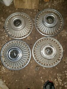 1963 Chevrolet Chevy Belair Impala Hubcaps Wheel Covers Vintage Center Cap Used