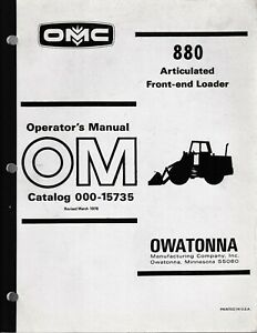 Mustang Omc 880 Articulated Front end Loader Operator s Manual