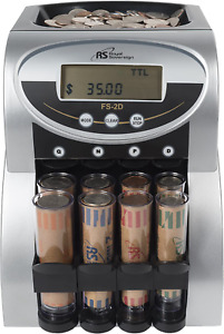 Commercial Coin Counter Sorter Machine Money Change Wrapper Fast Digital Lcd