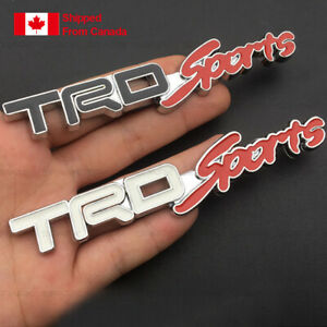 Trd Sports Metal Emblem Badge Stickers With Tape Or Screws For Grille Grill