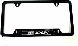 Car Stainless Steel Mugen Jdm License Plate Tag Frame Cover Holders W caps Civic