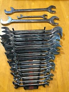 Vintage Mac Tools 17pc 4 Way Angle Open End Wrench Set Da Made In Usa Plus