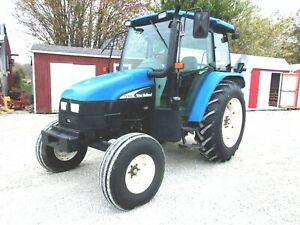 2004 New Holland Tl100 Tractor Cab free 1000 Mile Delivery From Ky
