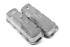 Holley 241 84 Mickey Thompson Polished Valve Covers M T Big Block Chevy