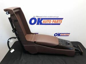 14 2014 Hyundai Equus Oem Rear Center Console Brown Leather With